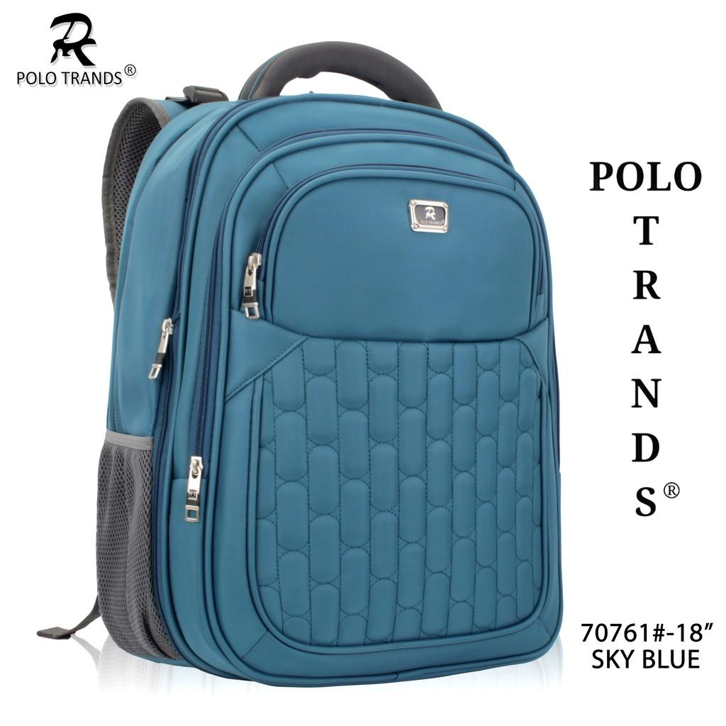 Tas Ransel Laptop Polo Trands 70761 Free Bag Cover Original Quality