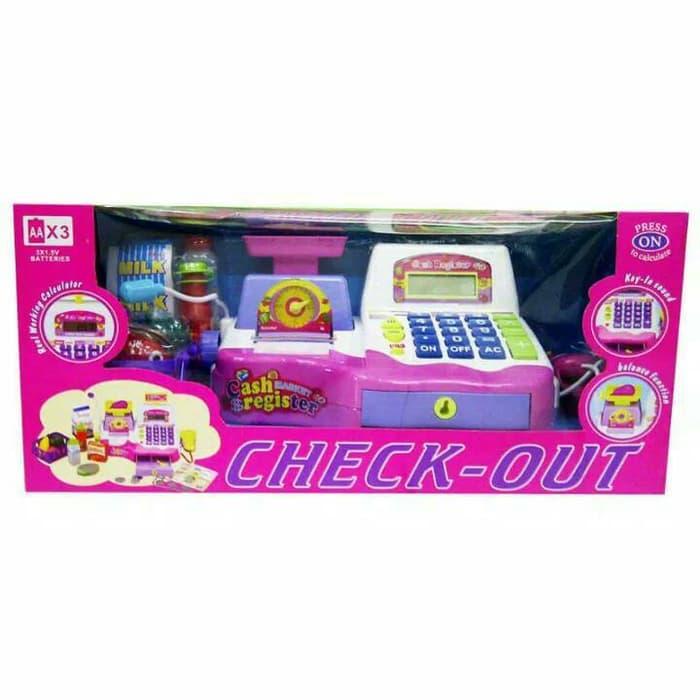 Mainan Mesin Kasir - Kasiran Besar Cash Regster / Check-Out / Mainan Anak Perempuan By Ristoys Surabaya.