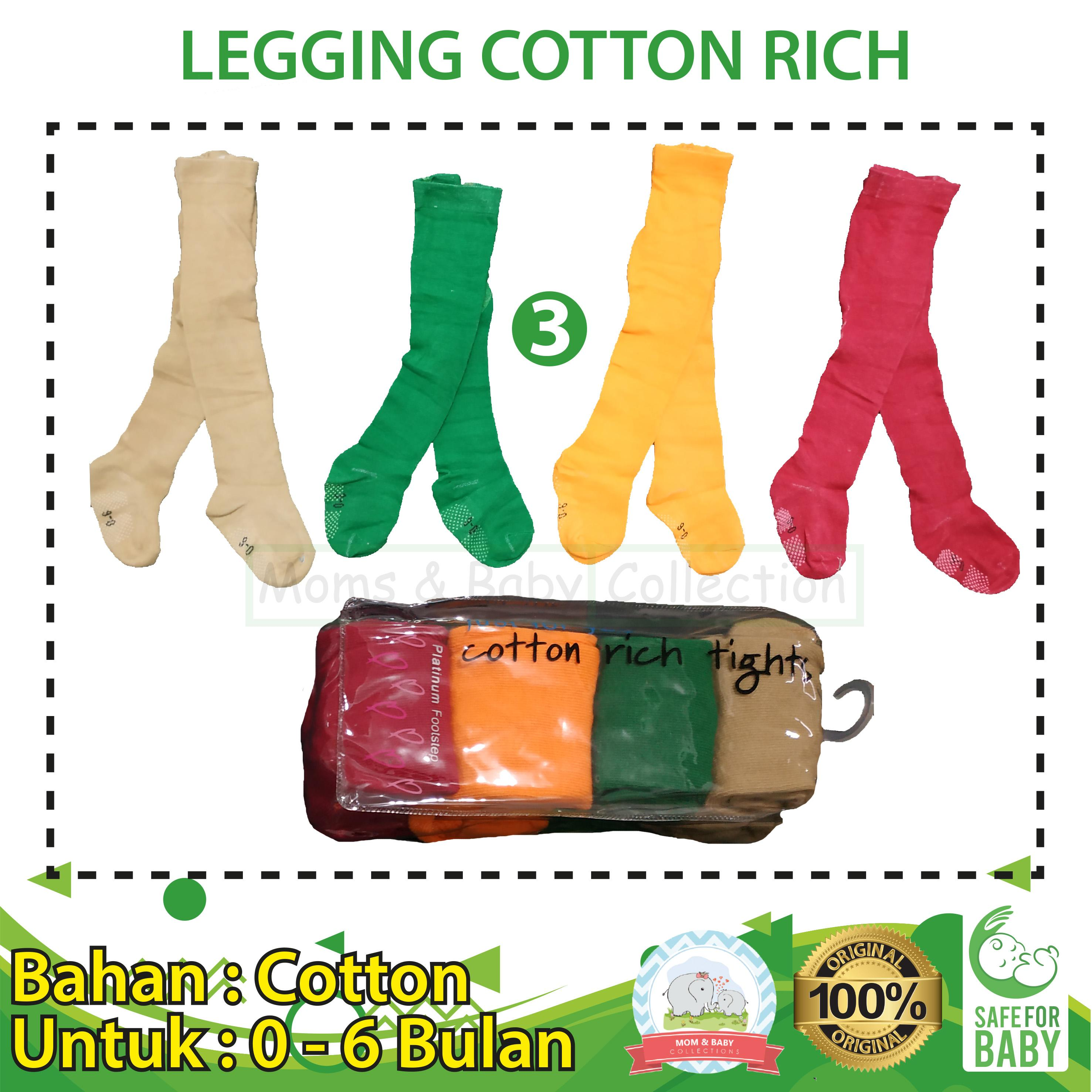 Legging Bayi Cotton Rich 4 In 1 Uk 0 - 6 Bulan By Mom & Baby Collections.