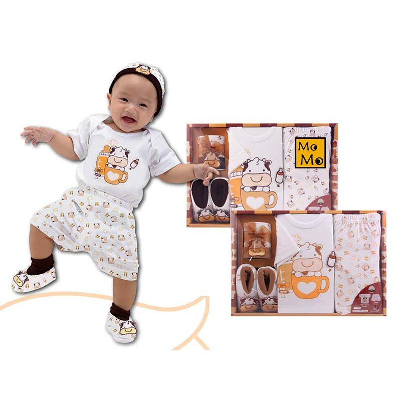 Kiddy Gift Set Cake Shop 11148 - Set Pakaian Bayi Motif Sapi
