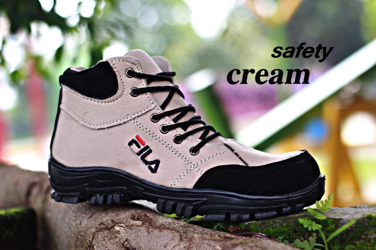 Sepatu Delta Bootrs Safety Fila Pria Sepatu tracking hiking touring kerja lapangan proyek dinas PDL PDH boot ujung besi casual sneakers sepatu boots murah