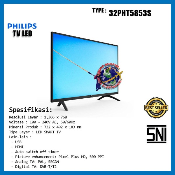 Philips LED SMART TV 32PHT5853S