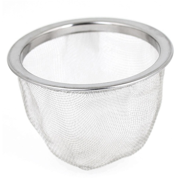 63mm Silver Tone Stainless Steel Wire Mesh Tea Leaves Spice Strainer Basket