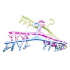 8 Klip Socks Clothespin Underwear Hook Rak Pengeringan Bar Laundry Gantungan Baju