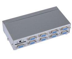 8 Port VGA Splitter Box 1 In 8 Out Distributor 8 Monitor Menampilkan Gambar Yang Sama Serentak Resolusi Tinggi MT-VIKI Maituo 2508