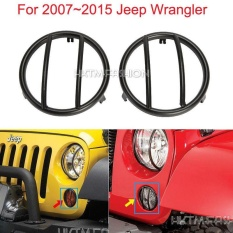 Jual 07 15 Black Turn Signal Grille Mounted Light Cover For Jeep Wrangler Black Intl Online Di Indonesia