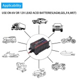 Spesifikasi 75A 6V 12V Automatic Battery Trickle Charger Maintainer For Car Motor Atv Rv American Plug Intl Lengkap