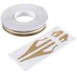 Spesifikasi 1 27 Cm Tandai Garis Rekaman Vinyl Stiker Decal 12Mm Untuk Review Mobil Motor Matt Emas Murah Berkualitas