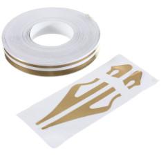 Promo 1 27 Cm Tandai Garis Rekaman Vinyl Stiker Decal 12Mm Untuk Review Mobil Motor Matt Emas