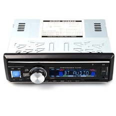 1 Din Car Auto Audio Stereo Bluetooth V2.0 Support FM USB SD MP3 Player AUX Mic with Phone Charger Remote Control System - intl