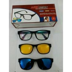1 Kacamata 3 Frame Lensa / Kacamata Anti Silau ASK Vision 3 In 1 Magnet Lenses