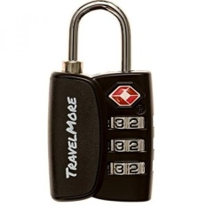 1 Pack Open Alert Indicator TSA Approved 3 Digit Luggage Locks for Travel Suitcase & Baggage