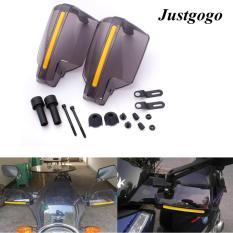 Miliki Segera Justgogo 1 Pair Sepeda Motor Universal Motor Handguards Pelindung Angin Pola Hand Guards