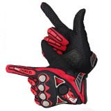 Beli 1 Pair Motorcycle Motocross Cycling Racing Riding Full Finger Protective Gloves Red M Intl Cicil