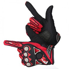 Promo 1 Pair Motorcycle Motocross Cycling Racing Riding Full Finger Protective Gloves Red M Intl Di Tiongkok