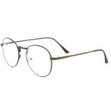 Toko 1 Pasang Mata Dari Unisex Lingkaran Bingkai Logam Bundar Tipis Bening Polos Kacamata Bingkai Kacamata Lensa Dekoratif Kopi Internasional Terlengkap