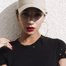 1 Pair Sexy Oversize Lingkaran Besar Hoop Dangle Earrings Punk Earrings untuk Wanita Emas 4 Cm/1.57 Inch Gold -Intl