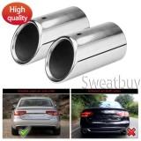 Jual 1 Pair Stainless Steel Knalpot Knalpot Tail Pipe Tip Tailpipe Untuk Audi A4 B8 Q5 2007 2012 Tiongkok