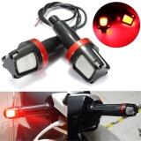 Harga 1 Pair Sepeda Motor Universal Led Handle Grip Bar End Plug Turn Signal Lampu Kampanye Versus Merah Intl Oem