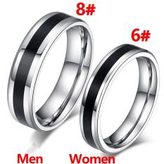 Jual 1 Pair Wanita Pria Titanium Baja Beberapa Cincin Pecinta Cincin Pertarungan Pernikahan Intl Oem Online