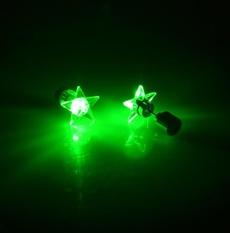 1 Pair/2 Pcs Fashion Dance Party Aksesoris LED Light Up Bling Ear STUDS Earring-Intl