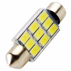 1 Pcs Lampu LED Mobil Kabin / Plafon / Festoon / Double Wedge CANBUS 9 SMD 5630 39mm - White