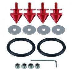 1 Set Pengikat Cepat Lepas Kit untuk Mobil Truk Spike Bumper Tutup Palka Aluminium Merah-