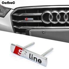1 X Car-Styling Auto Sline Logam 3D Logo Sticker Mobil Emblem Lencana Chrom untuk Audi A1 A3 A4 A5 A6 A7 A8 R8 Q5 Q7 RS TT S Line R8-Intl