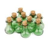 Jual Beli 10 Botol Gabus Kaca Datar Dasar Botol Botol Harapan Diseduh Sendiri Liontin Hijau
