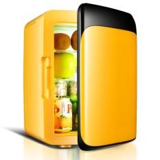 10 L Mobil Refrigerator 220 V/12 V Mini Lemari Es Pembeku Mobil/Homedual Digunakan Kecil Pendingin Dingin kotak Lebih Hangat Kotak (Hitam) -Internasional