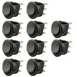 Jual 10 Pcs 12 V 20A 3 Pin Spst On Off Round Boat Rocker Switch Dengan Led Indikator Merah Indikator Intl Thinch