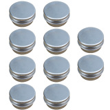 Review Toko 10 Pcs 15G Mini Empty Aluminum Diy Homemade Travel Nail Art Lip Balm Cosmetic Samples Body Cream Lotion Container