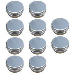 Beli 10 Pcs 15G Mini Empty Aluminum Diy Homemade Travel Nail Art Lip Balm Cosmetic Samples Body Cream Lotion Container Cicilan