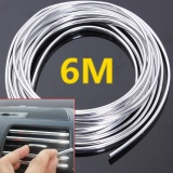 Toko 10 Pcs 6 Meter Chrome Moulding Trim Strip Car Door Edge Scratch Guard Protector Cover Intl Termurah