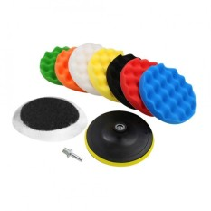 10 Pcs Sponge Polishing Buffing Waxing Pad Kit For Car Polisher Buffer With Drill Adapter 4