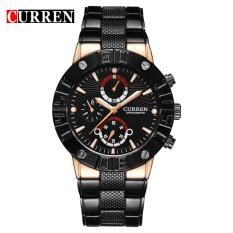 [100% Asli] CURREN 8006 Merek Mewah Gerakan Kuarsa Waterproof Alloy Wrist Watches Pria