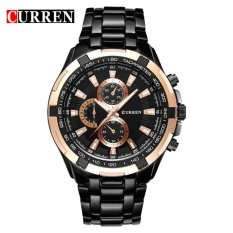 Obral 100 Asli Curren 8023 Mens Watches Top Brand Luxury Men Wrist Watches Full Steel Pria Olahraga Watch Tahan Air Murah