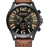 Diskon Produk 100 Asli Curren Multi Fungsi Chronograph Leather Mewah Fashion Casual Olahraga Quartz Men Watches Jam Tangan 8244