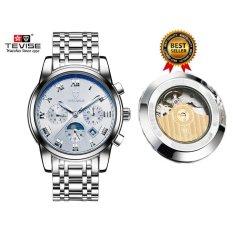 Review 100 Asli Mens Watches Top Brand Luxury Tevise Watch Jam Tangan Mekanis Otomatis Steel Jam Mens Jam Tangan Blaus Masculino 9005 Intl Terbaru