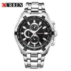 Beli 100 Asli Curren 8023 Mens Watches Top Brand Luxury Men Wrist Watches Full Steel Pria Olahraga Watch Tahan Air Intl Terbaru