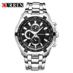 Model 100 Asli Curren 8023 Mens Watches Top Brand Luxury Men Wrist Watches Full Steel Pria Olahraga Watch Tahan Air Intl Terbaru