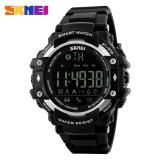 Review Skmei 1226 Men S Waterproof Smart Bluetooth Watch Waterproof Wrist Watches Creative Fashion Sports Outdoor Watch Black White Black Terbaru