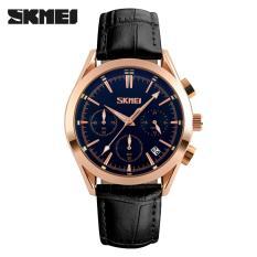 Spesifikasi 100 Asli Skmei 9127 Fashion Quartz Jam Tangan Tali Kulit Pria Kasual Jam Tangan Tahan Air Hitam Yg Baik