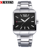 Jual 100 Genuine Curren 8132 Men New Fashion Sports Watches Quartz Analog Man Business Quality All Steel Watch 3 Atm Waterproof Original