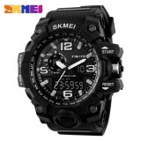 Harga 100 Genuine Skmei 1155 Busana Pria Digital Led Display Sport Watches Quartz Watch 50 M Tahan Air Dual Layar Jam Tangan Hitam Intl Original
