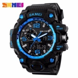 Model 100 Genuine Skmei 1155 Fashion Men Digital Led Display Sport Watches Quartz Watch 50M Waterproof Dual Display Wristwatches Intl Terbaru