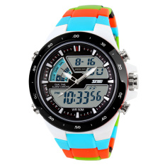 Promo Toko 100 Genuine Skmei Merek Pria Olahraga Watches Dual Display Digital Analog Quartz Led Jam Tangan Tali Karet Berenang Tahan Air Creative Watch