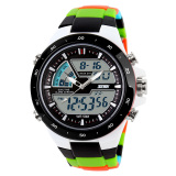 100 Genuine Skmei Merek Pria Olahraga Watches Dual Display Digital Analog Quartz Led Jam Tangan Tali Karet Berenang Tahan Air Creative Watch Skmei Diskon 50
