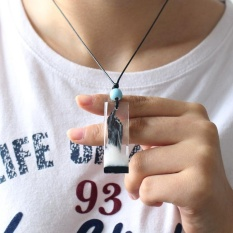 Jual 100 Handmade Resin Kayu Pendant Necklace G*Rl Holiday Women Pria Fashion Perhiasan Aksesoris Hadiah Intl Branded Murah