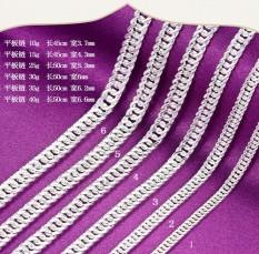 100 Cari S990 Kaki Perak Datar Panel Kalung Pria dan Wanita Pribadi Gaya Menara Gram Horsewhip Kalung 99 Murni Perak Datar Bahkan Rantai Koboi Rantai-Internasional